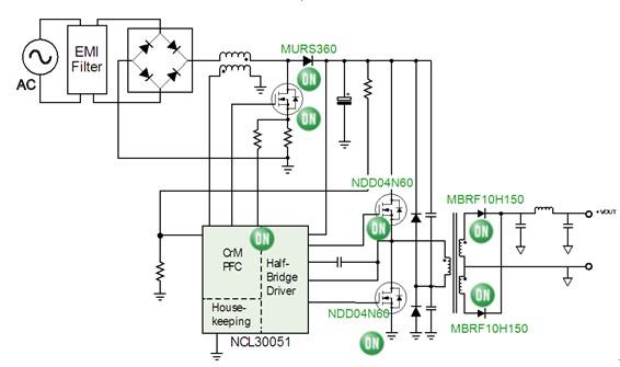 应急荧光灯转换器接线图
