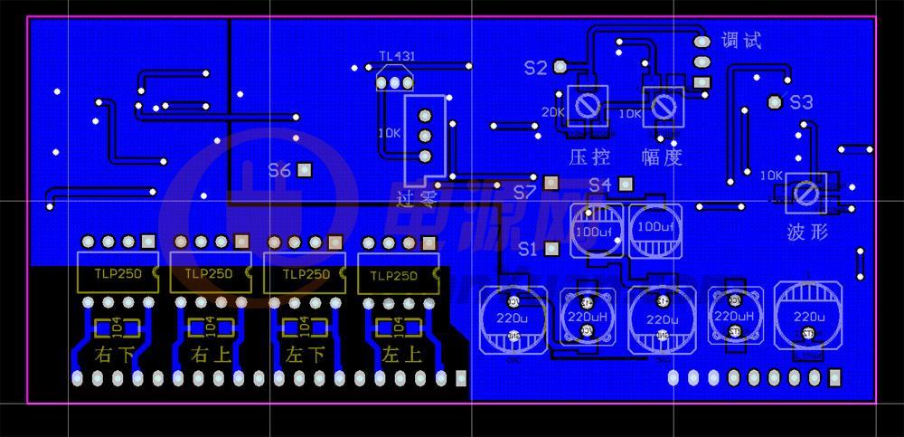 重做3525spwm驱动原理图  原来纯硬件的pcb也